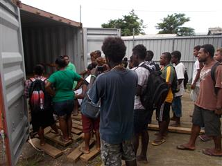 University students (SINU) visit timber export activities in Honiara